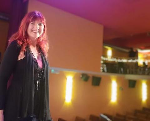 Sabine on stage