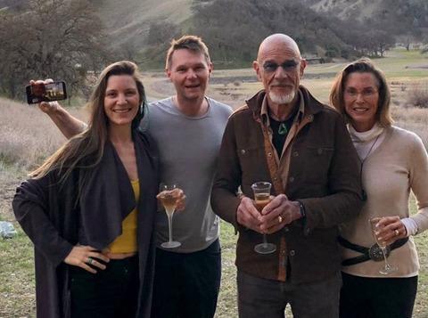 Back in February, Jessy Kate Shingler, Robbie Shingler, Richard and Jolee Miller, toast the Stewardship transition.