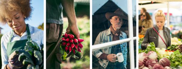 Farmer Gardener Consumer Collage