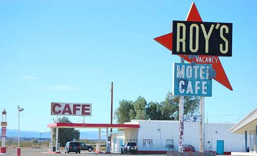 Iconic Roy's Cafe in Amboy, California