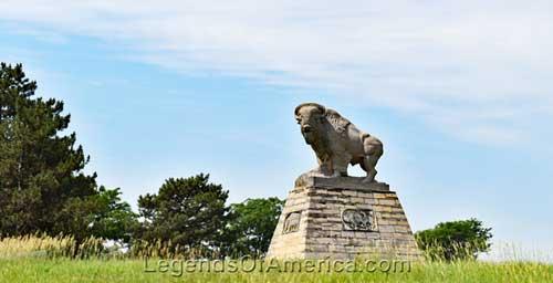 Fort Hays, Ks Buffalo Statue