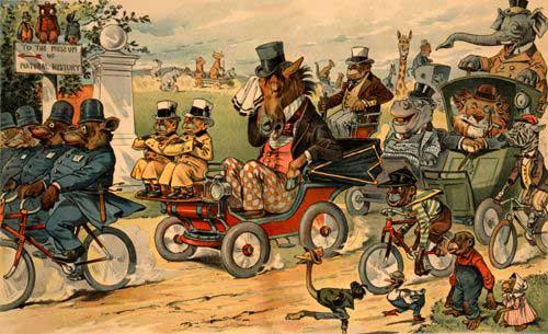The passing of the horse. JS, Pughe, J Ottmann Lith Co NY, 1899