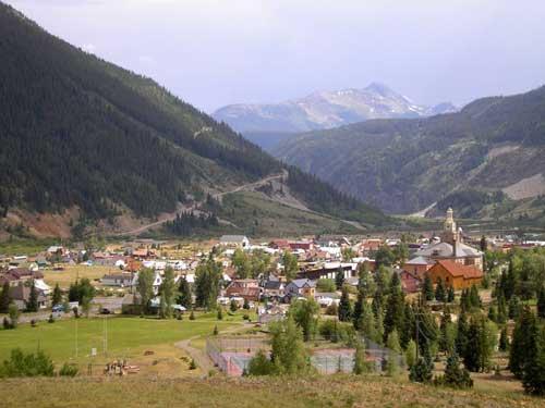 Town view of Silverton, Colorado