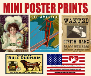 Posters from our General Store