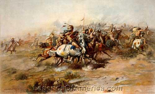 Battle of Little Bighorn Painting
