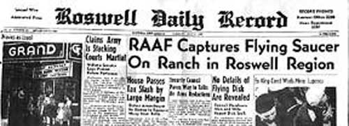 Roswell Daily Record from 1947