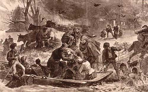 The Peshtigo Fire, illustration in Harper's Weekly, November 1871