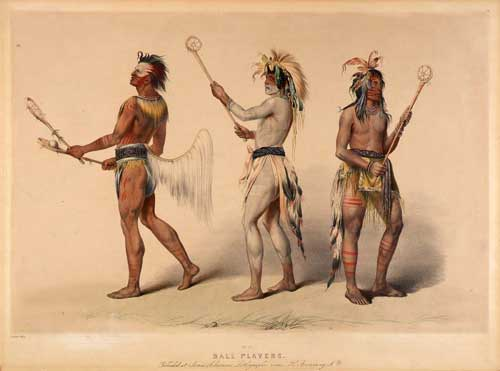 Native American Painting Ball Players