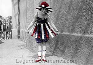 Girl on 4th of July