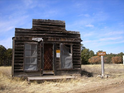 Ghost town of Jicarilla, NM