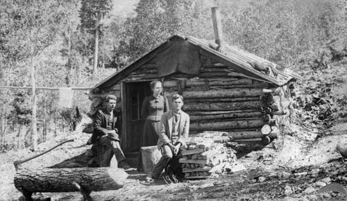 Doc Susy Anderson at her Colorado Cabin
