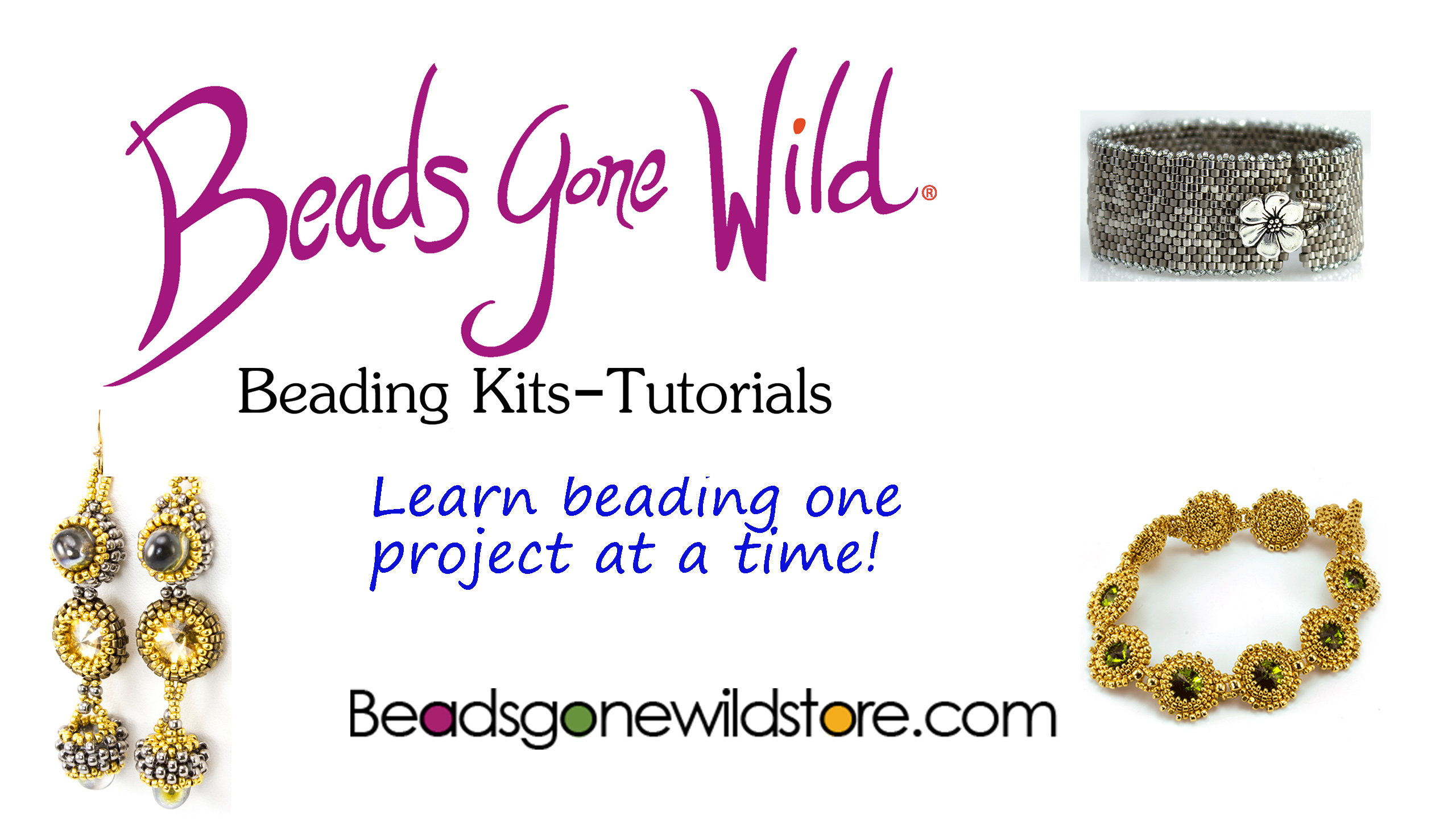 Beads Gone Wild, Beading Kits, Tutorials. Learn Beading one project at a time.